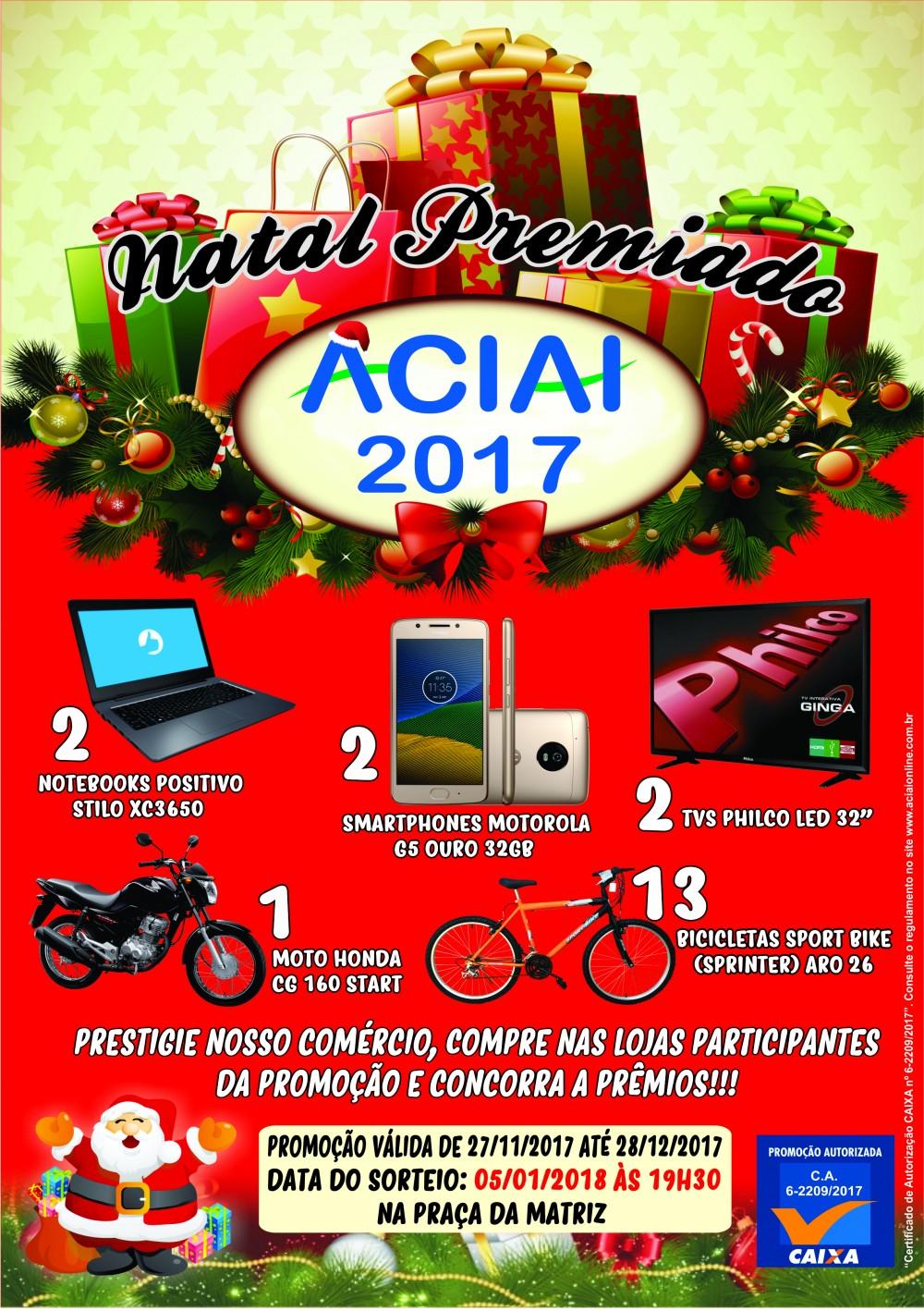 natal comercial 2018 Ganhadores da Promoção Natal Premiado ACIAI 2018 | Associação  natal comercial 2018